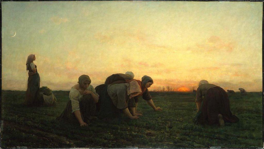 Jules BRETON (1827-1906), «Les Sarcleuses», 1861. Domaine public.
